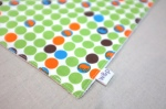 wash cloth 12 - green dots - tag