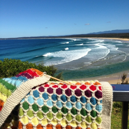 blanket and beach