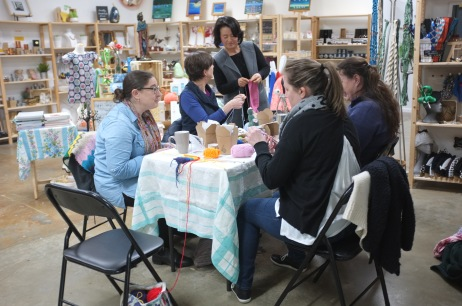 Crafternoon tea in action