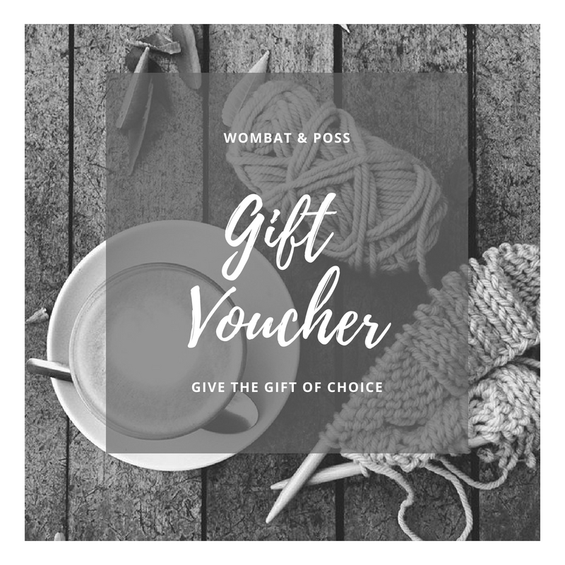 Wombat & Poss gift voucher advert